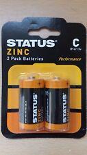 Status Zinc Battery C Type 1.5 Volt 2 4 8 Batteries Great Value!