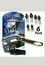 6 PC Fix A Zipper Zip Slider Rescue Instant Repair Kit Replacement Removable