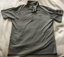 Pahr Golf Short-Sleeve Button-Neck Gray Logo Polo Size Xl