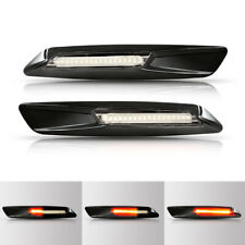 BMW E90 E91 E60 E81 E84 Black Trim LED Dynamic Side Marker Indicator Turn signal