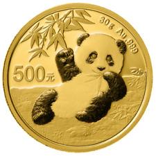 China - 500 Yuan 2020 - Panda - Anlagemünze - 30 gr. Gold ST