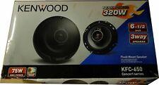 Kenwood KFC-650 6.5 inch 3-Way Car Speaker with Polypropylene Cones