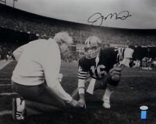 Joe Montana Autographed *Black 49ers 16x20 Kneeling With Walsh Photo- JSA W Auth