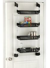 Organize It All Over-The-Door 4-Tier Basket Storage Unit Kitchen Organizer Rack