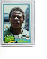 1981 Topps #261 Rickey Henderson Oakland Athletics HOF SEE SCANS SHARP