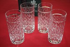 RALPH LAUREN ASTON HIGHBALL FINE CRYSTAL GLASSES SET OF 4 ~13.5 oz NEW IN BOX