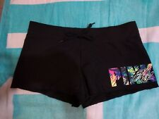 Victoria's Secret PINK Multicolor Palm Print Fleece Shorts Medium NWT RARE NEW