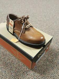 DOCKERS  SHELTER  Genuine Leather Lace-upOxford Shoe Dark Tan NIB 90-3902