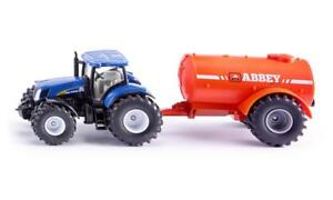 Siku 1945 New Holland Tractor with Abbey Single Axle Slurry Trailer 1:50