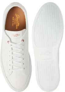 Good Man Brand Edge White Leather Low Sneaker Italy Shoes Mens 12 US New