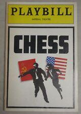 CHESS Playbill June 1988 Tim Rice Judy Kuhn, David Carroll, Philip Casnoff