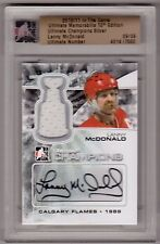 LANNY McDONALD 10/11 ITG Ultimate Champions Auto Autograph Jersey #9/9 Flames 89