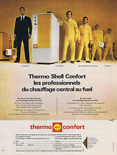 PUBLICITE ADVERTISING 094 1971 THERMO SHELL CONFORT chauffage central au fuel