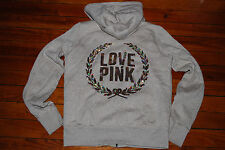 PINK by Victoria's Secret VS  Sequin Crest Bling Faux Fur Hoodie (Small)