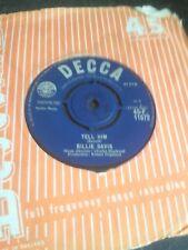 """BILLIE DAVIS """"Tell him"""" C/W """"I'm Thankfull"""" 1963 UK DECCA 45-F.11572"""