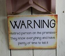 Handmade Plaque Sign Birthday Present Christmas Funny Grandparent Retirement
