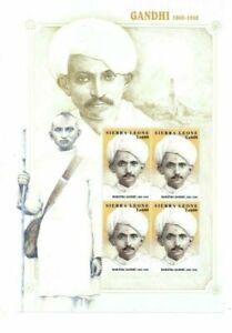 Sierra Leone - MAHATMA GANDHI - Sheet of 4 Stamps MNH