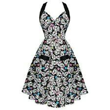 Sugarskull rockabilly 50s style full dress halter neck Calveras Hellbunny sz 8 w