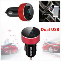 Car Charger 5V 3.1A Charge Dual USB Port Cigarette Lighter Adapter Voltage Red