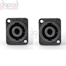 2 PCS Speakon 4 Pin Female Jack Compatible Audio Cable Panel Socket Connectors