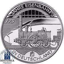 Deutschland 10 Euro Deutsche Eisenbahn 2010 Silber-Gedenk-Münze Spiegelglanz