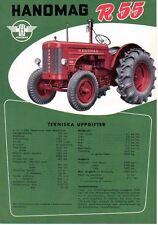 Hanomag R55 Tractor Original Sales Brochure In Swedish