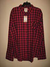 Nwt Levi's Men's L/S Plaid Flannel Shirt~ Sz. XXL
