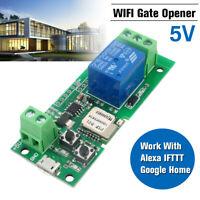 WiFi Remote Garage Door Gate Opener Controller Work w/ Alexa & IFTTT Google