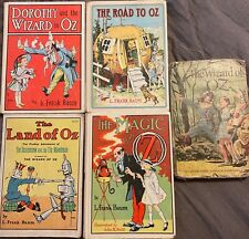 Wizard Of OZ Books By. L. Frank Baum from 1907 to 1920 Great Condition- Set Of 5