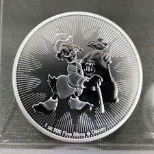 w//Box /& COA 2018 1 oz Niue Silver $2 Disney Scrooge McDuck Black Ruthenium