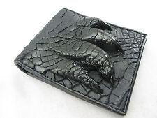 Genuine Crocodile Skin Leather Claw Foot Bifold Men Wallet Black + FREE SHIPPING