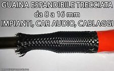 GUAINA ESPANDIBILE TRECCIATA Ø 8mm a 16mm ANTITAGLIO PER CAVI CAR AUDIO TUNING
