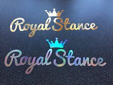 Royal Stance Vinyl Car Sticker Oil Spill Or Gold Chrome VW BMW Audi