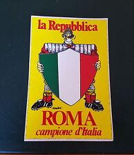 CALCIO AS ROMA ** l' ADESIVO dello SCUDETTO 1983 ** di Estrema Rarità