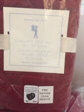 1 Red Pottery Barn Kids Corduroy Cozy Plush Quilted Standard Sham 🎁
