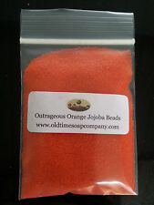 Jojoba Spheres Beads 1/2 oz Outrageous Orange Soaps Scrubs Gels