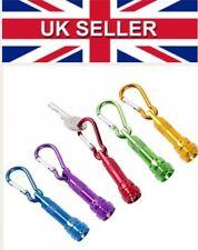 5 Mini Carabiner LED Torches Keyring Key Ring Torch Aluminium Hook Clip On 34-27