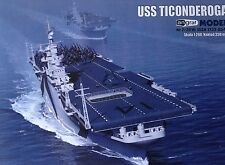 Uss Aircraft Carrier Ticonderoga Paper Model Scale 1:200 + Laser Frames Details