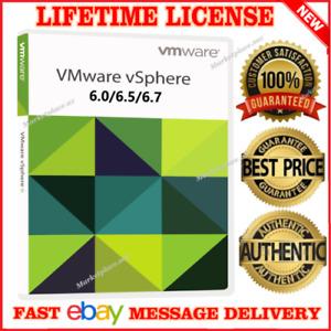 VMware ESXi vSphere 6/6.5/6.7 Enterprise Plus + vCenter⭐ Unlimitted CPUs  /FAST
