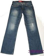 Levis 557 Eve Jeans W27 L32 NEU Damen Hose Destroyed Straight Leg Blau Used