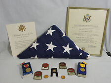 Vtg Lot US Army Major 1930's-62 WWII Medals SSI Rank Insignia Flag Certificates