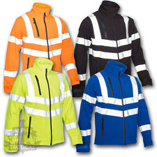 SECURITY DUTY PATROL SOFT SHELL JACKET YELLOW BLACK BLUE ORANGE SIA INDUSTRY