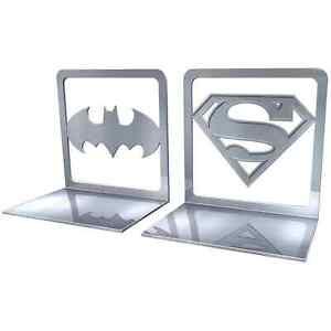 Set of DC Comics Metal Bookends Superman / Batman