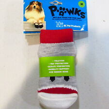 Medium Pawks Dog Socks RC Pet Products Shoes Anti-Slip Traction Protection NOS