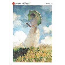Papier de riz 16x22cm La femme à l'ombrelle Monet Decoupage Collage Carterie