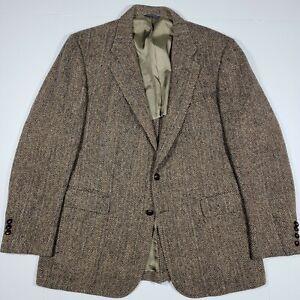 Harris Tweed Cricketeer Vintage Blazer - Brown Tweed - Scottish Wool, About 44R