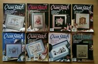 For The Love Of Cross Stitch Magazine Vtg Lot of 8 Back Issues 1989-1991 Pattern