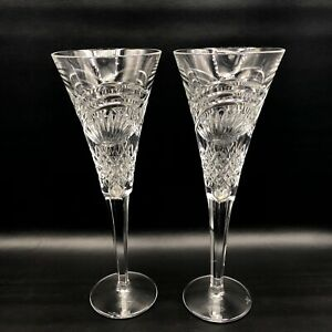 Waterford Crystal 2002 Celebration Series DREAMS Toasting Champagne Flutes 2