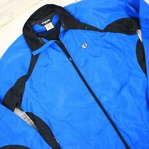 Pearl Izumi Cycling Jacket Coat Blue Mens Sz Medium Full Zip Removable Sleeves