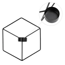 Wall Hanging 3D Geometric Tea Light Candle Holder Metal Wire Candle Stick Stand